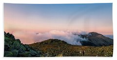 Beach Towel featuring the photograph The Hiker - Mt Jefferson, Nh by Jeff Sinon