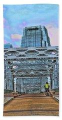 The  John Seigenthaler Pedestrian Bridge # 2 - Nashville Beach Towel