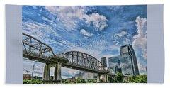 The  John Seigenthaler Pedestrian Bridge # 3 - Nashville Beach Towel