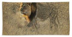 The King Stalks Beach Towel