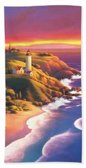 The Light House  Beach Towel