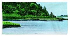 The Little River Gloucester, Ma Beach Towel