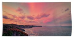 The Lizard Point Sunset Beach Towel