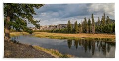 Beach Towel featuring the photograph The Madison River At West Yellowstone by Lon Dittrick
