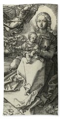 The Madonna Crowned By An Angel, 1520  Beach Towel