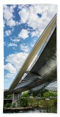 The Millennium Bridge From Below Beach Towel