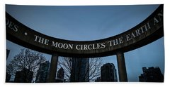 Beach Towel featuring the photograph The Moon Circle by Juan Contreras