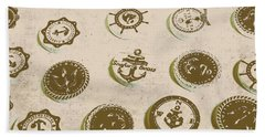 The Old Button Docks Beach Towel