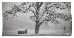 Beach Towel featuring the photograph The Old Oak by Edmund Nagele