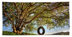 The Old Tire Swing Beach Sheet