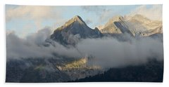 Beach Towel featuring the photograph The Ossau Valley  by Stephen Taylor
