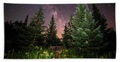 The Path To The Milky Way In Albany New Hampshire Beach Towel