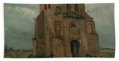 The Peasants Churchyard, The Old Church Tower Beach Towel