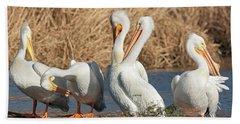 The Pelican Gang Beach Towel