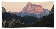 Beach Towel featuring the photograph The Pena Montanesa by Stephen Taylor