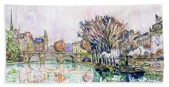 The Pont Neuf, Paris - Digital Remastered Edition Beach Towel