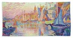 The Port Of Saint-tropez - Digital Remastered Edition Beach Towel
