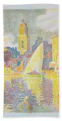 The Port, Saint-tropez - Digital Remastered Edition Beach Towel