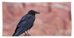 The Rainy Raven Beach Towel