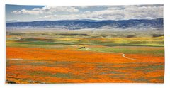 The Road Through The Poppies 2 Beach Towel