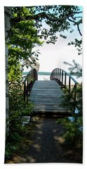 The Rock River Foot Bridge Beach Towel