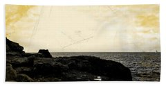 Beach Towel featuring the photograph The Sea   by Lucia Sirna