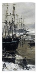 The Thames In Ice - Digital Remastered Edition Beach Towel