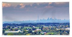 The Toronto Skyline Beach Towel