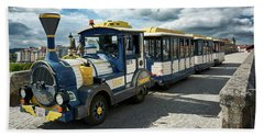 The Touristic Train Of Ourense Beach Sheet