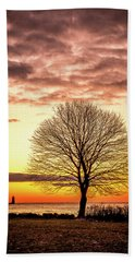 Beach Towel featuring the photograph The Tree by Jeff Sinon