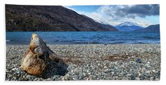 The Trunk, The Lake And The Mountainous Landscape Beach Towel