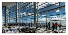Beach Sheet featuring the photograph The View From 32 by Randy Scherkenbach