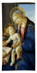 The Virgin And Child, The Madonna Of The Book Beach Towel