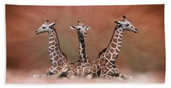 The Watchers - Three Giraffes Beach Sheet