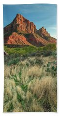Beach Towel featuring the photograph The Watchman by Adam Romanowicz
