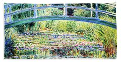 The Water Lily Pond By Monet Beach Sheet