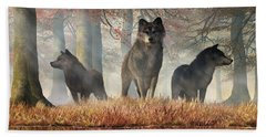 The Wolves Of Autumn Beach Towel