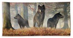 Beach Towel featuring the digital art The Wolves Of Autumn by Daniel Eskridge