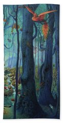 The World Between The Trees Beach Towel