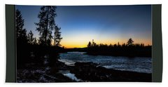 Beach Towel featuring the photograph The Yellowstone River by Pete Federico