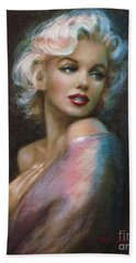 Theo's Marilyn Ww Blue Beach Towel