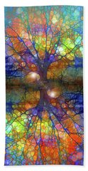 There Is Light Even In These Dark Roots Beach Towel