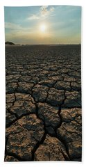 Beach Towel featuring the photograph Thirsty Ground by Davor Zerjav