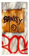This Banksy Will Not Disappear Beach Towel