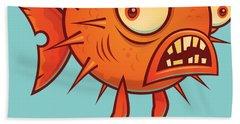 This Blows Porcupine Blowfish Beach Towel