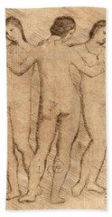 Three Graces - II Beach Towel