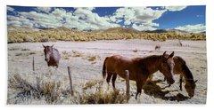 Three Horses In Colorado Beach Towel