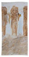 Three Little Muddy Angels Beach Towel