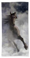 Beach Towel featuring the digital art Through The Clouds by Melinda Hughes-Berland