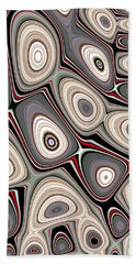 Beach Towel featuring the digital art Through The Looking-glass by Jeff Iverson